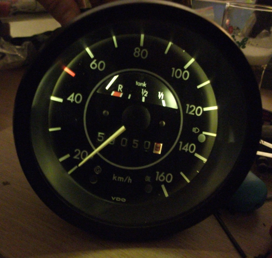 LED in VW beetle speedo
