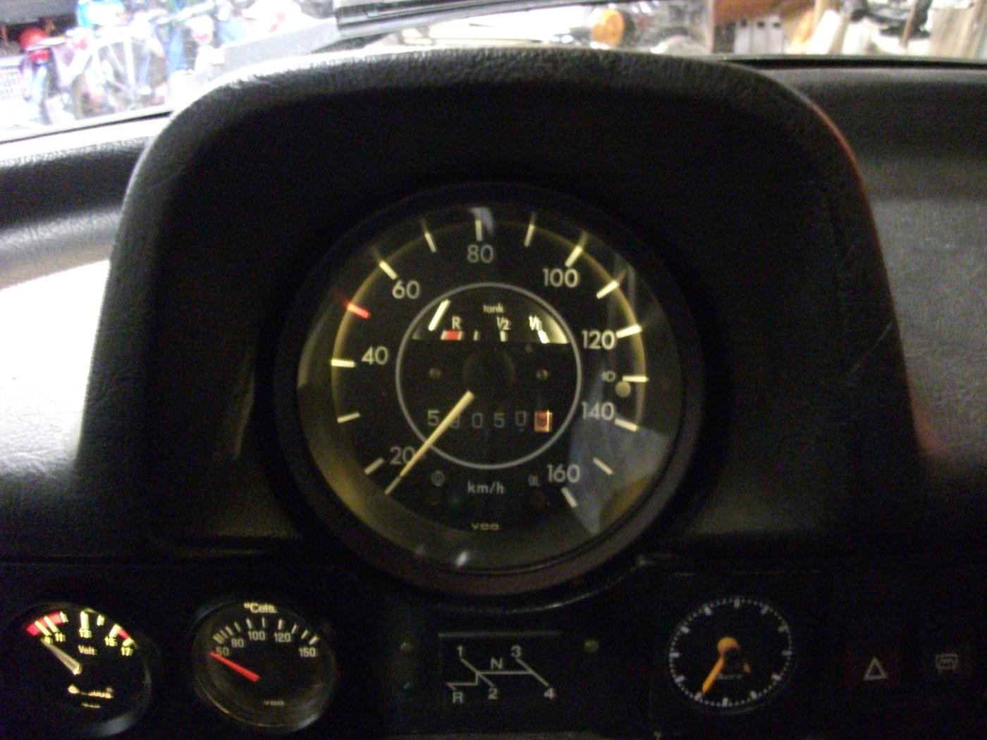 LED in VW speedometer installed