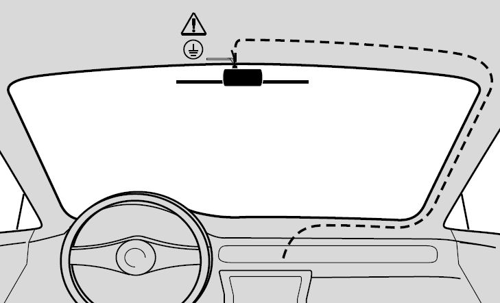 Windscreen mount antenne drawing