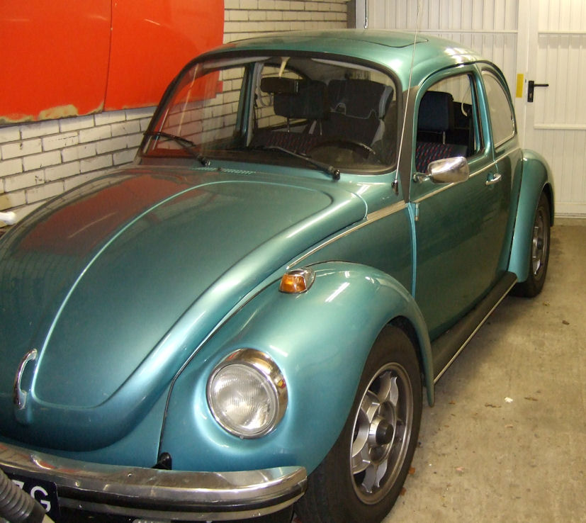 Beetle with standard mirror