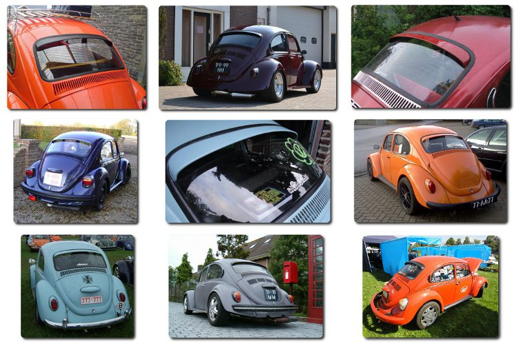 VW beetles with Gerrelt spoiler