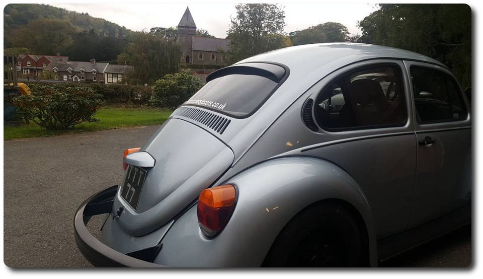 Gerrelt roofspoiler on ElectricClassicCars.co.uk VW beetle