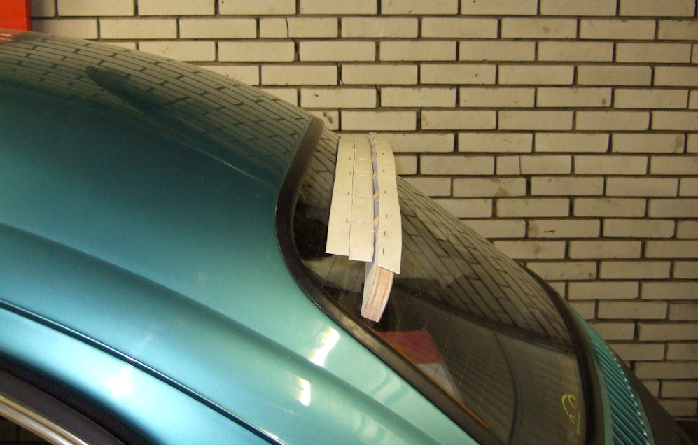 Shaping the spoiler sideview