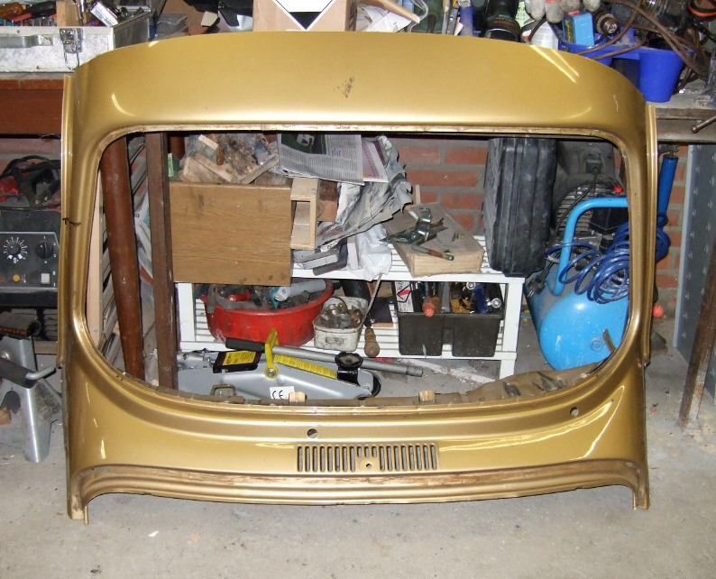 VW super beetle front window frame